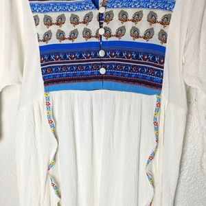 Umgee Boh Tunic Top Gauze Feel Ribbon Detail